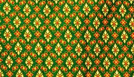 Configuration thaïe traditionnelle de cru du tissu Images libres de droits