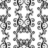 Configuration tirée par la main sans joint Texture noire et blanche de griffonnage illustration stock