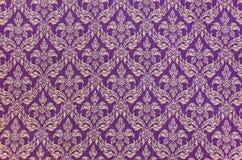 Configuration tissée thaïe de tissu Image stock