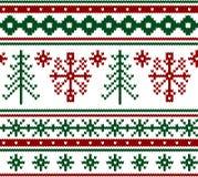 Configuration tricotée sans joint de Noël Photographie stock