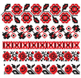 Configuration ukrainienne de broderie Images stock