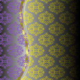Configuration violette jaune Photographie stock