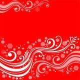Configurations avec des flocons de neige sur un fond rouge illustration libre de droits
