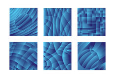 Configurations bleues de conception Photo stock