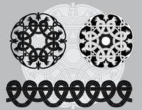 Configurations celtiques noires et blanches Images libres de droits