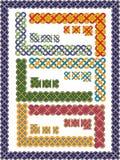 Configurations celtiques réglées d'une trame Images libres de droits
