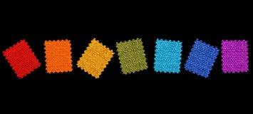 Configurations colorées de tissu Photographie stock libre de droits
