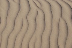 Configurations d'ondulation de sable Photos stock