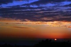 Configurations de coucher du soleil de l'hiver de Himachal et tonalités, Inde photographie stock libre de droits