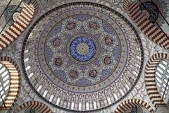 Configurations de dôme de mosquée de Selimiye Photographie stock
