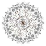 Configurations de fleurs Page pour livre de coloriage Photos libres de droits