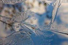 Configurations de glace photographie stock