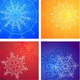 Configurations de l'hiver Images libres de droits