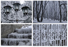 Configurations de l'hiver Photos stock