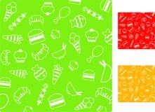Configurations de nourriture Photos libres de droits