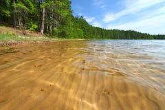 Configurations de sable dans le lac wisconsin Image libre de droits