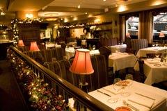 Configurations de table de restaurant photographie stock libre de droits