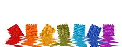 Configurations de tissu dans l'eau rendue Photos libres de droits
