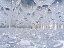Configurations de verre à vin Image stock