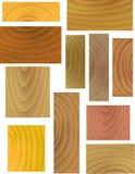 Configurations en bois de vecteur Photo stock