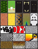 Configurations et formes d'animaux illustration stock