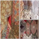 Configurations fabriquées à la main de textile photos stock