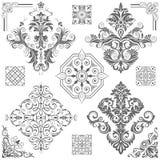 Configurations florales décoratives Photo stock