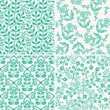 Configurations florales sans joint Images libres de droits