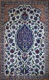 Configurations florales sur des tuiles de tabouret, Istanbul, dinde Photos stock