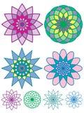 Configurations géométriques colorées Photographie stock libre de droits