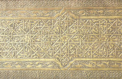 Configurations islamiques d'art sur une trappe historique de mosquée Photographie stock