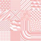 Configurations roses sans joint avec la texture de tissu illustration stock