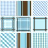 Configurations sans joint avec la texture de tissu Image stock