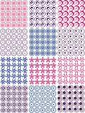 Configurations sans joint avec la texture de tissu Image libre de droits