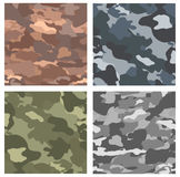 Configurations sans joint de camouflage illustration stock