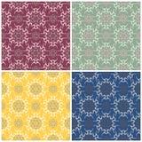 Configurations sans joint florales Ensemble de milieux colorés avec des éléments de fleur Photographie stock libre de droits