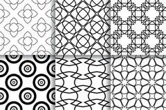 Configurations sans joint noires et blanches Milieux géométriques Photographie stock