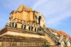 Configurazione antica della pagoda dal mattone Fotografie Stock Libere da Diritti