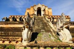 Configurazione antica della pagoda dal mattone, Tailandia Immagine Stock