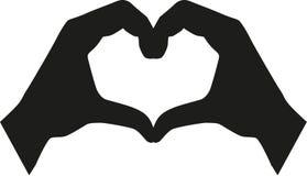 Configurazione del cuore delle mani royalty illustrazione gratis