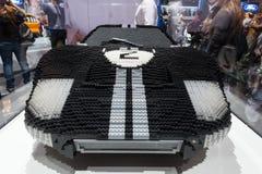 Configurazione di Ford GT 40 Lego Immagine Stock