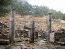 Configurazione di Priene Turchia da Alessandro Magno immagini stock libere da diritti