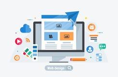 Configurazione di web design royalty illustrazione gratis