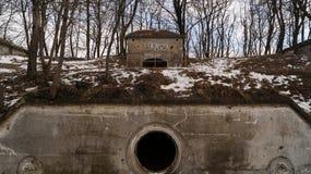 Configurazione nelle fortificazioni Salis Soglio di Siesliska Fotografia Stock Libera da Diritti