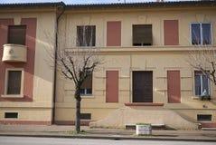 Configurazione sociale dell'alloggio da Benito Mussolini Fotografie Stock