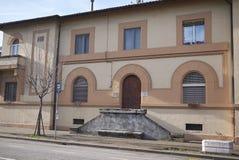 Configurazione sociale dell'alloggio da Benito Mussolini Fotografia Stock