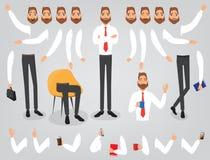 Configurazione stabilita della creazione dell'uomo d'affari il vostro carattere Fotografia Stock Libera da Diritti