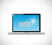 Configure code on a laptop. illustration design Royalty Free Stock Photography