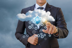 Configuring and securing the data cloud . Stock Image