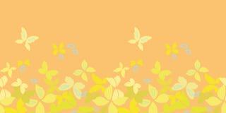 Confine arancio con le farfalle royalty illustrazione gratis